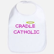 cradle catholic girl logo copy.jpg Baby Bib
