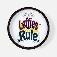 Lefties Rule Wall Clock