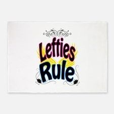Lefties Rule 5'x7'Area Rug