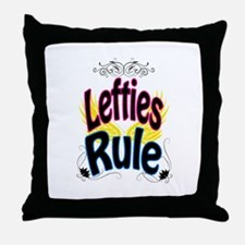 Lefties Rule Throw Pillow