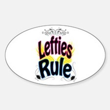 Lefties Rule Decal