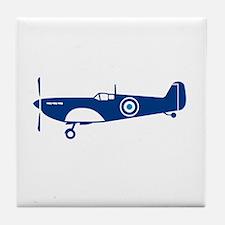 World War 2 Fighter Plane Spitfire Retro Tile Coas