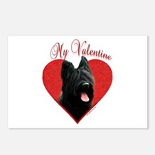 Briard Valentine Postcards (Package of 8)