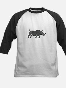 Rhinoceros Silhouette Running Watercolor Baseball