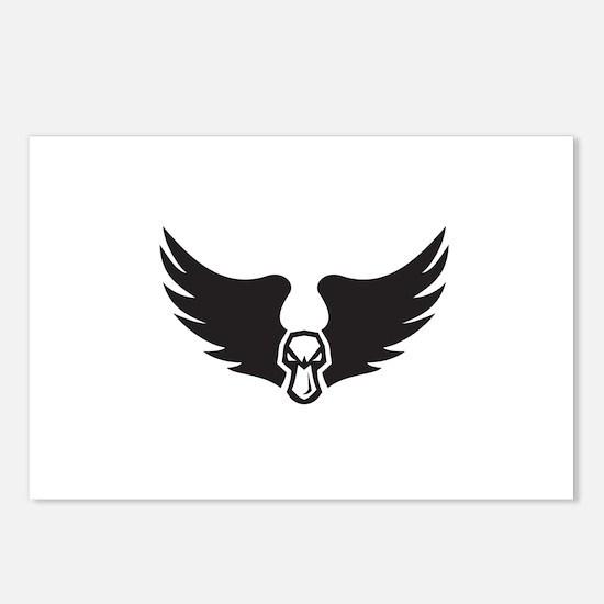 Angry Mallard Duck Head Wings Retro Postcards (Pac