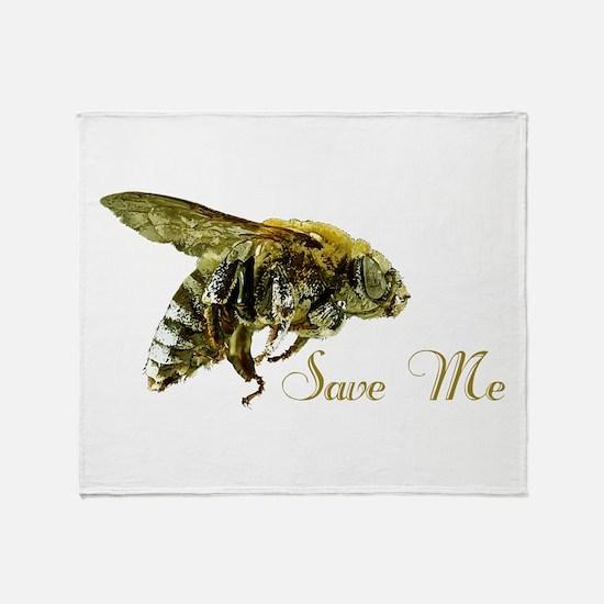 Save Me Bee Throw Blanket