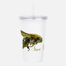Save Me Bee Acrylic Double-wall Tumbler