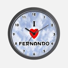 I Love Fernando (Black) Valentine Wall Clock