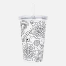 Flower Garden Galaxy Acrylic Double-Wall Tumbler