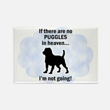 Puggles In Heaven Rectangle Magnet