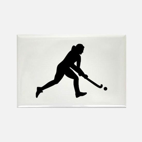 Field hockey girl Rectangle Magnet