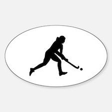 Field hockey girl Decal
