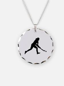 Field hockey girl Necklace