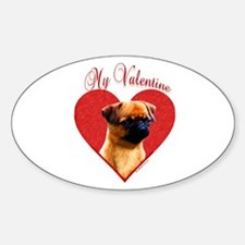 Brussels Valentine Oval Decal