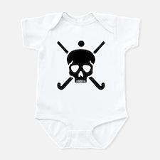 Field hockey skull Infant Bodysuit