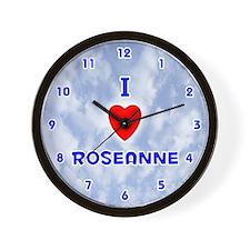 I Love Roseanne (Blue) Valentine Wall Clock