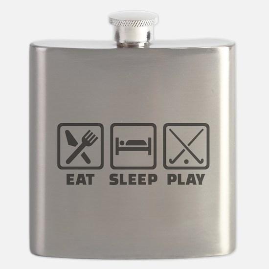 Eat sleep play field hockey Flask