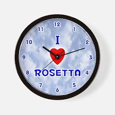 I Love Rosetta (Blue) Valentine Wall Clock