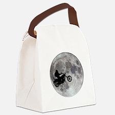 Cute Bigfoot moon Canvas Lunch Bag