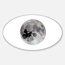 Cute Bigfoot moon Decal