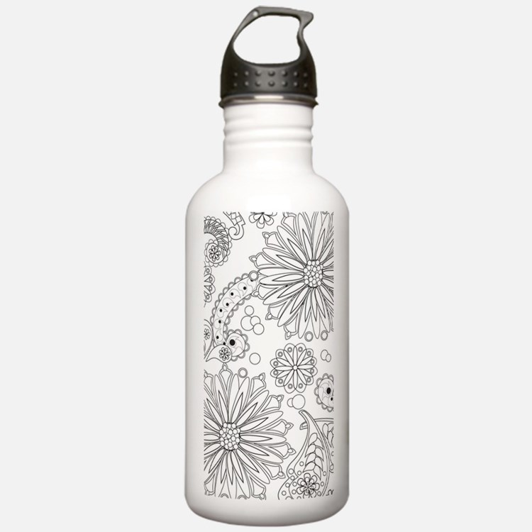 Flower Garden Galaxy Water Bottle