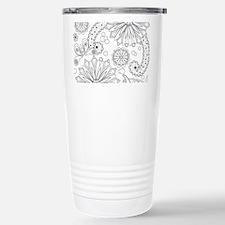 Flower Garden Galaxy Travel Mug