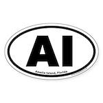 Amelia Island, Florida Euro Style Oval Sticker