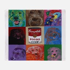Doodle Soup Throw Blanket