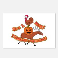 Merry Thanksgivoweenmas Postcards (package Of 8)