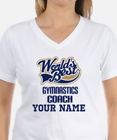 Gymnastics Coach Personalized Gift T-Shirt