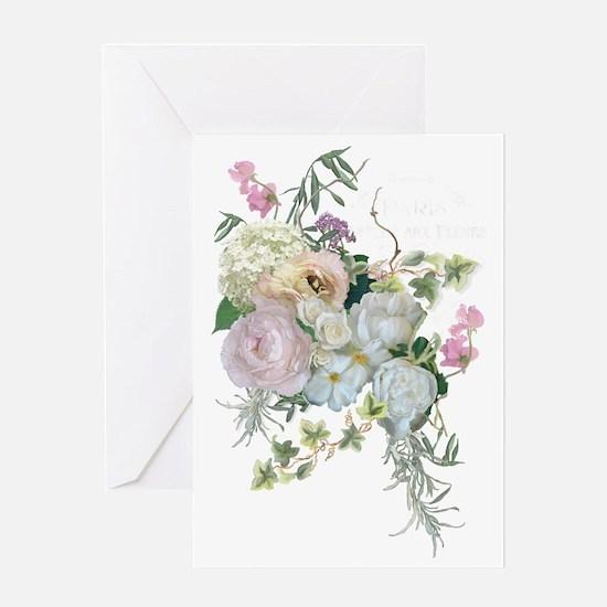 Funny Paris rose Greeting Card