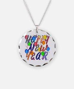 Happy New Year Confetti Necklace