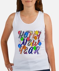 Happy New Year Confetti Tank Top