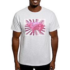 Wild Metallic Pig Ash Grey T-Shirt