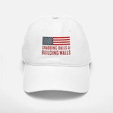 Grabbing Balls & Building Walls Flag Baseball