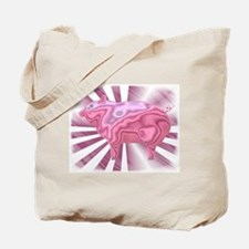 Wild Metallic Pig Tote Bag