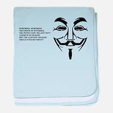 remember black big mask baby blanket