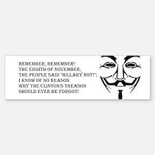 remember mask Bumper Bumper Bumper Sticker