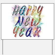 Happy New Year Works Yard Sign