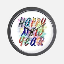 Happy New Year Works Wall Clock