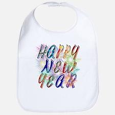 Happy New Year Works Baby Bib