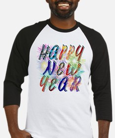 Happy New Year Works Baseball Jersey