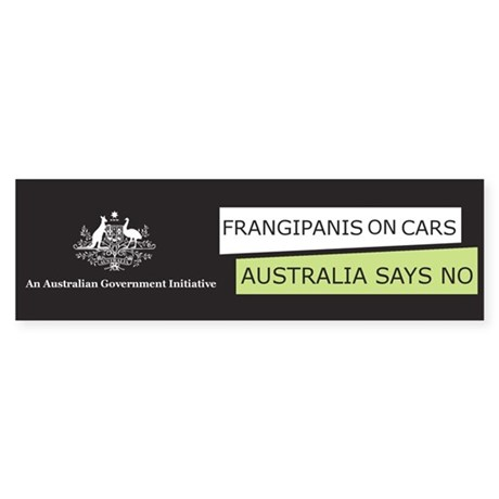 Frangipanis On Cars Bumper Sticker