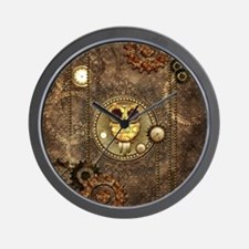 Awesome steampunk owl with clocks Wall Clock