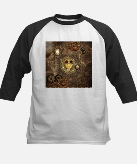 Awesome steampunk owl with clocks Baseball Jersey