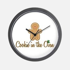 Cookie In Oven Wall Clock