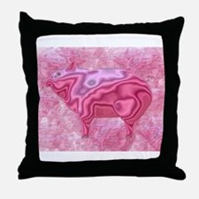 Surrealistic Pigs Throw Pillow