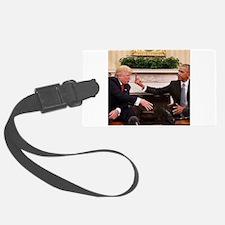 barack obama giving donald trump Luggage Tag