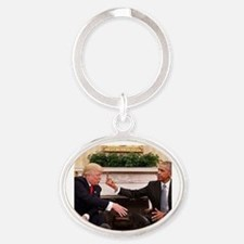 barack obama giving donald trump the mid Keychains