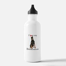 Love my Doberman Water Bottle